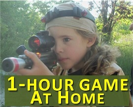 Lasertag party at home